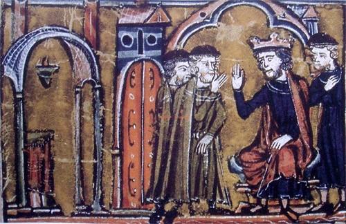 Le retour des Templiers en Europe (miniature du XIIIe siècle)