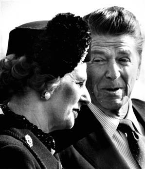 Margaret Thatcher et Ronald Reagan (DR)