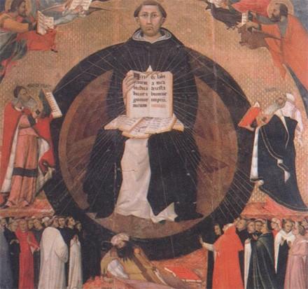 Saint Thomas d'Aquin, peinture sur bois de Traini, 1363