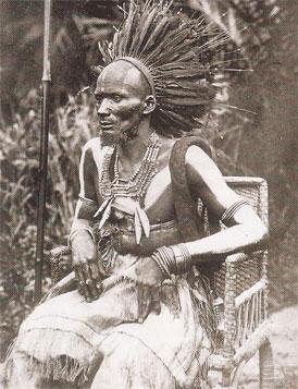 Le chef ou makoko des Batékés, signataire du traité de 1880 avec Brazza