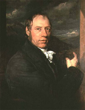 Richard Trevithick (Camborne 13 avril 1771 - Dartford 22 avril 1833 ), portrait par John Linnell