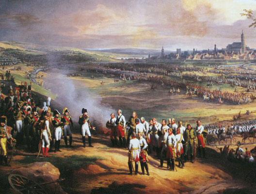 Reddition de la ville d'Ulm le 20 octobre 1805 (peinture de Charles Thévenin, détail, musée de Versailles)