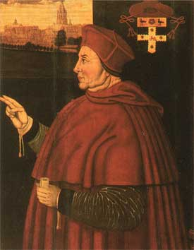 Thomas Wolsey (1473-1529), cardinal lord chancelier d'Angleterre (portrait du Christ Church College, Oxford)