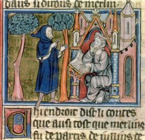 La l gende du roi arthur merlin dictant blase bnf ms - Le cycle arthurien et les chevaliers de la table ronde ...