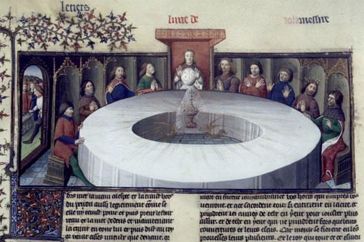 Les chevaliers de la table ronde apparition du saint - Lancelot et les chevaliers de la table ronde ...