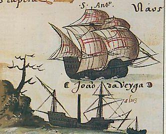 Nefs ou caravelles portugaises d'après un manuscrit du XVe siècle