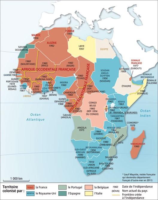 De la colonisation aux indépendances