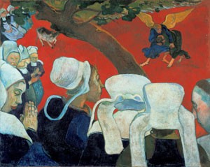 Paul Gauguin, La Vision du Sermon ou La Lutte de Jacob avec l'Ange, 1888 (The National Gallery of Scotland, Edimbourg)