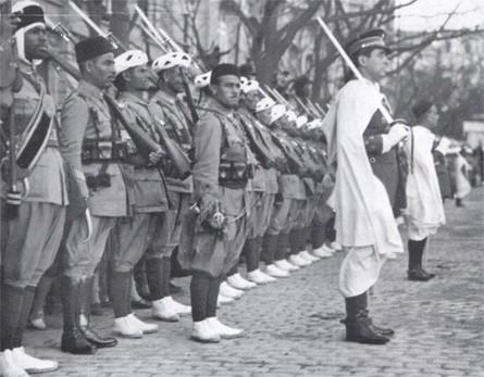 Un tabor de combattants marocains