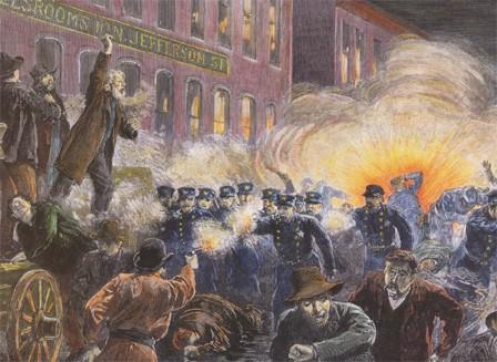 La révolte de Haymarket Square (Chicago, 4 mai 1886)