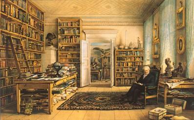 E. Hildebrandt, Humboldt dans sa bibliothèque