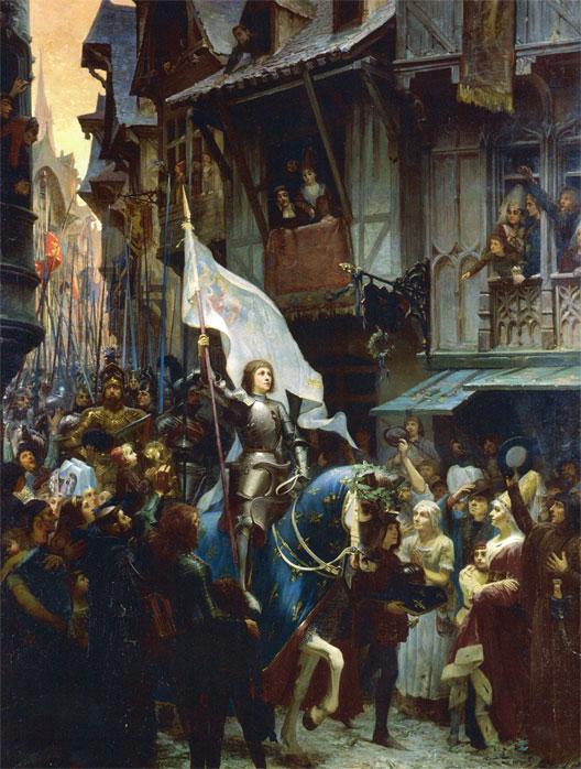 Jeanne fait son entrée à Orléans (Jean-Jacques Scherrer (1855-1916), 1887, musée des Beaux-Arts, Orléans)