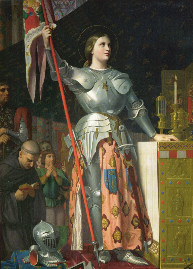 Jeanne d'Arc au sacre de Reims, par Dominique Ingres (1780-1867), 1854, musée du Louvre