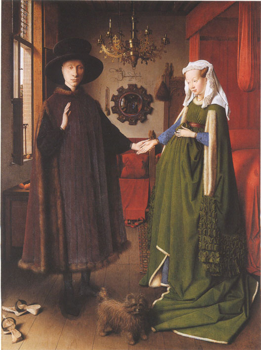 Les époux Arnolfini (Jan  Van Eick, 1434, National Gallery, Londres)