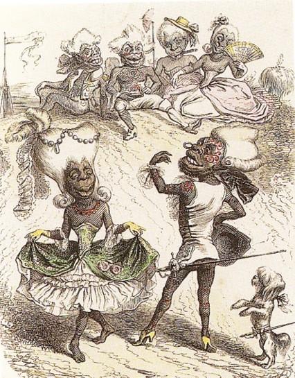Un menuet aux îles Marquises, auteur inconnu, Le Charivari, 1843