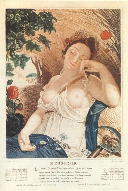 Calendrier révolutionnaire (Messidor), gravure du musée Carnavalet (Paris)