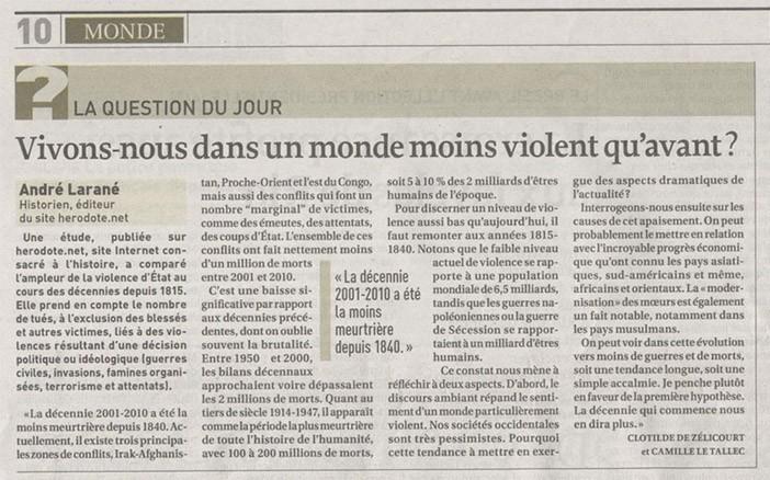 La Croix, 10 décembre 2013