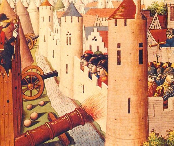 Siège d'Orléans en 1429 (Les Vigiles de Charles VII, par Martial d'Auvergne, 1487, BNF)