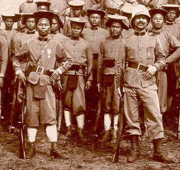 Tirailleurs tonkinois en Indochine, sous la IIIe République