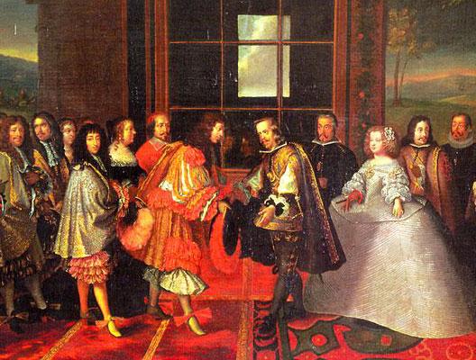 La rencontre de Louis XIV et Philippe IV sur l'île des Faisans