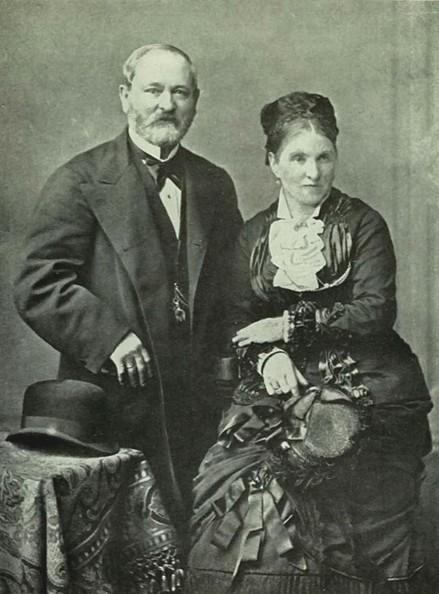 Gustav Fabergé et sa femme Charlotte, photo d'archive vers 1893.