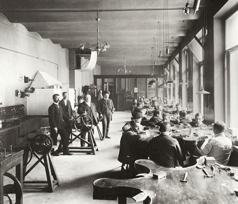 Vue de l'atelier de Fabergé à Saint-Pétersbourg en 1903, musée des beaux-arts de Montréal.