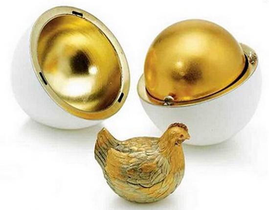 « Premier Œuf à la poule », l'œuf de Fabergé original.