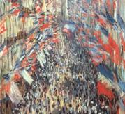 La rue Montorgueil le 30 juin 1878, Claude Monet, Paris, musée d'Orsay.