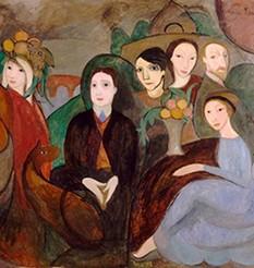 Marie Laurencin, Apollinaire et ses amis, 1909, Paris, Centre Pompidou.