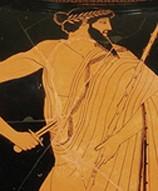 Hipparque tué par Aristogiton (détail peinture).