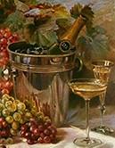 Champagne sec, 1900, Fritz Hildebrandt, Union des Maisons de Champagne.