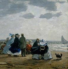 Sur la plage, Dieppe, Eugène Boudin, 1864, MoMA.