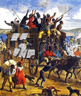 Le 13e amendement et la libération des esclaves en 1865 aux États-Unis (lithographie)