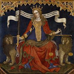 Jacobello del Fiore, Triptyque de la justice (détail), 1421.