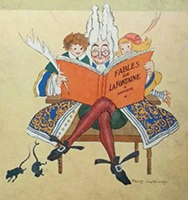 Illustration pour les Fables de La Fontaine, Félix Lorioux, 1929.