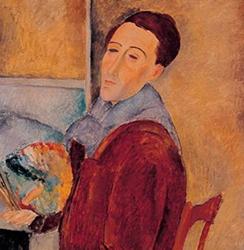 Amedeo Modigliani, Autoportrait, Sao Paulo, Musée d'Art contemporain.