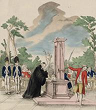 Le supplice des criminels par Mr. Guillotin, Jean-François, XVIIIe s., Paris, BnF.
