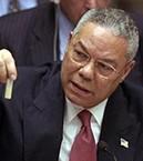 Colin Powell devant le Conseil de Sécurité de l'ONU, le 5 février 2003.