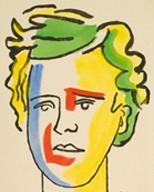 Fernand Léger, Portrait d'Arthur Rimbaud, lithographie pour Les Illuminations, 1949.