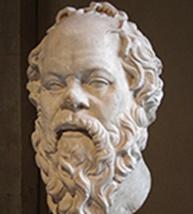 Lysippe, Portrait de Socrate, Ier siècle, Paris, musée du Louvre.