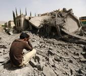 Sanaa après une frappe aérienne