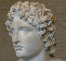 Alexandre le Grand (détail), inspiré du modèle sculpté par Euphranor après la bataille de Chéronée, Munich.