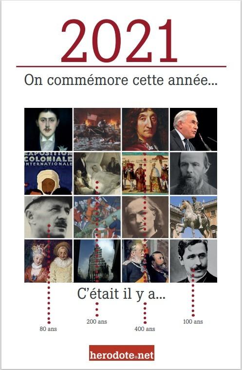 Anniversaires de l'année 2021 en France et dans le monde