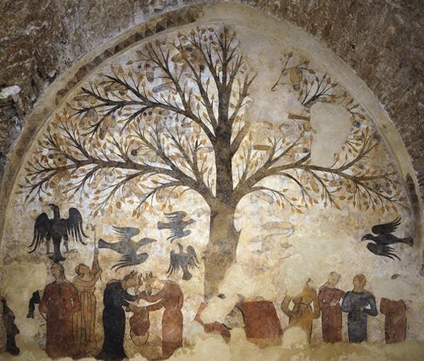 Arbre de la fertilité, fontaine de Massa Marittima, 1265.