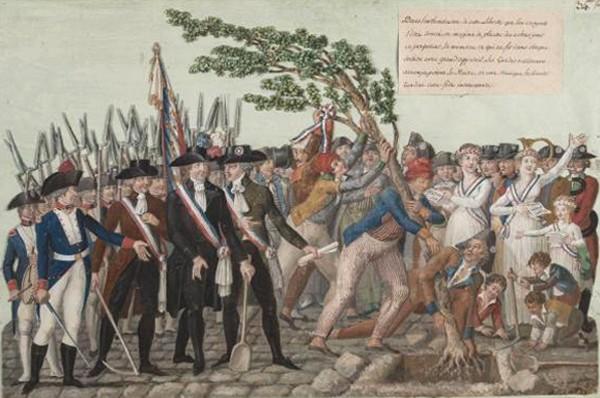 Plantation d'un Arbre de la Liberté en 1790, Jean-Baptiste Lesueur, Paris, musée Carnavalet.