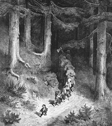 Le Petit Poucet, illustration des Contes de Charles Perrault, Gustave Doré, 1862.