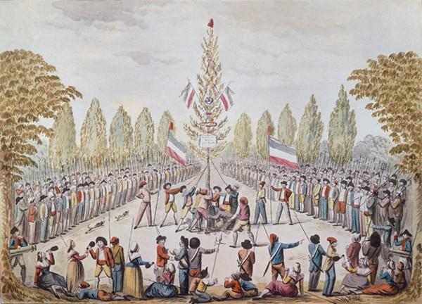 Plantation de l'arbre de la Liberté, Étienne Béricourt, École française du XVIIIe siècle, Paris, musée Carnavalet.