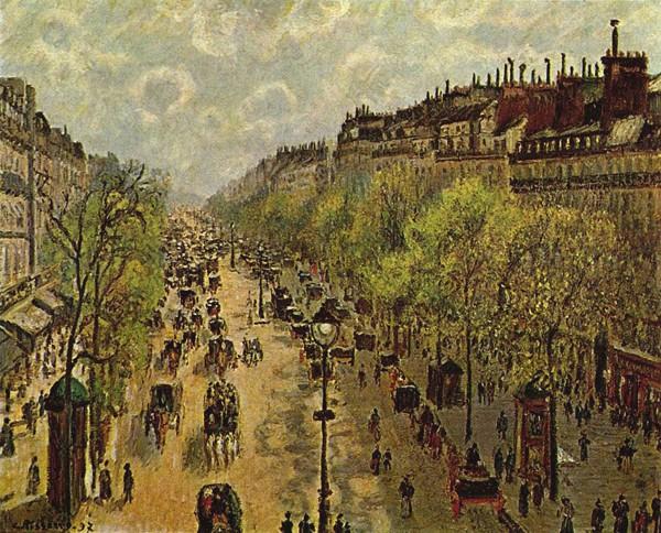 Boulevard Montmartre, printemps, 1897, Camille Pissarro, Jérusalem, musée d'Israël.