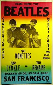 Affiche du dernier concert des Beatles (29 août 1966)