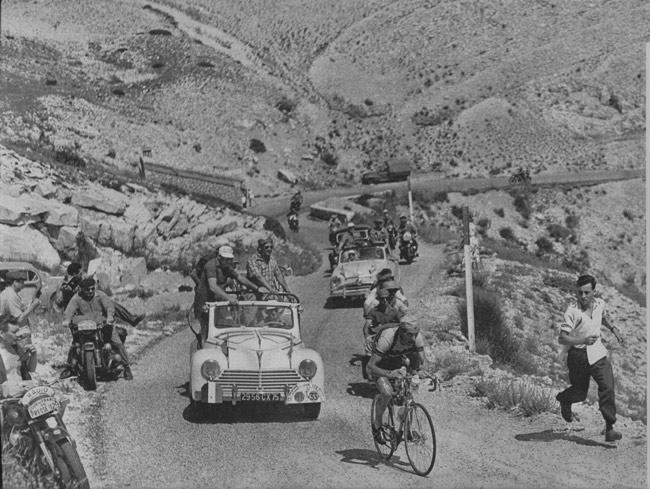 Première ascension du mont Ventoux (Montpellier-Avignon) avec Louison Bobet, le 22 juillet 1951